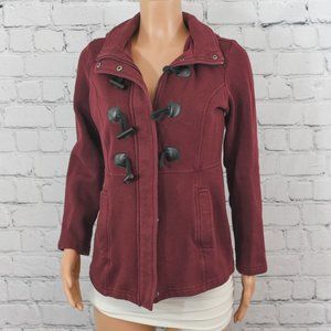 Sebby red short peacoat